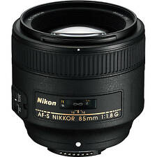 NEW Nikon AF-S NIKKOR 85mm f/1.8G Lens for DSLR Camera Body 2201 + BONUS USA