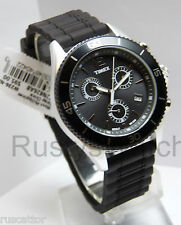 TIMEX ALUMINUM CASE CHRONOGRAPH WATCH / RESIN STRAP T2N826 tag$94.95