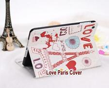 Kolorfish Designer Romantic Print Leather Case Cover For iPAD 2 3 4 --White