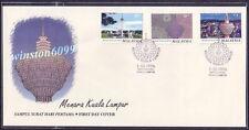 1996 Malaysia Menara Kuala Lumpur KL Tower 3v Stamps FDC (Kuala Lumpur Cachet)