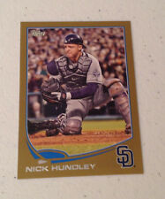 2013 Topps Mini NICK HUNDLEY GOLD #09/62 Made #556 Padres Online Exclusive