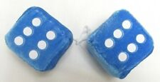 "AUTOMOBILE - CAR FUZZY DICE SET OF 2 WITH STRING VARIOUS COLORS 2.5"" CUBES"