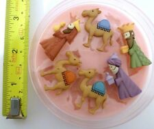 THREE KINGS / WISE MEN CHRISTMAS SILICONE MOULD FOR CAKE TOPPERS, CHOCOLATE ETC