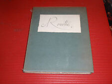 ANTIQUE ANDRE DE LORDE/FUNCK-BRENTANO BOOK ROSETTE FRENCH