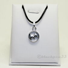 ❤️ Halskette mit Anhänger Scottish Terrier Hund  Silberfarbend