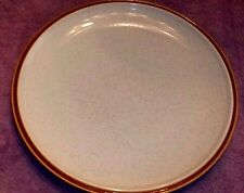 "Mikasa NATURAL BEAUTY C9000 Chop Plate, Platter 12 1/4"" Brown Rim Cream"