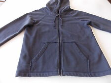 Eileen Fisher Hoodie Sweat Jacket Zip Front L/S Charcoal Gray Women L Large B10H