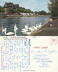 1970's THE RIVER OUSE BEDFORDSHIRE UNPOSTED COLOUR POSTCARD