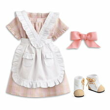 NEW AMERICAN GIRL DOLL ADDY SUMMER PLAID OUTFIT SET ~DRESS PINAFORE BOOTS RIBBON