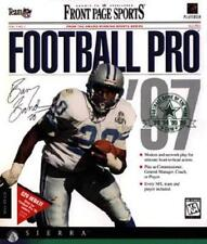 Front Page Sports Football Pro '97 + Manual PC CD professional NFL players game!