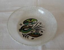 Vintage George Briard Painted Glass Bowl Signed
