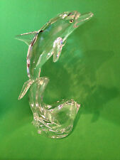 """Swarovski MAXI DOLPHIN Silver Crystal 8 1/4"""" New with Boxes! 221628"""