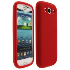 Silicone Gel Skin Cover Red Wrap On Phone Protector Case for Samsung Galaxy S3