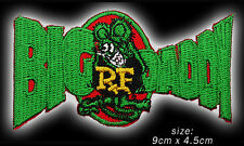"RAT FINK ""BIG DADDY"" Hot-Rod Iron-On / Sew-On Embroidered Patch - NEW - #1U13"