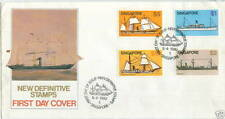 FDC S'pore definitive ship (high & low value) 28.4.1980 2 covers