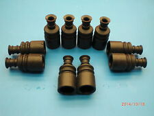 10 pieces genuine Lauterbacher rubber-gaitors black for FG models 1/5 and 1/6