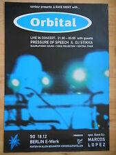 ORBITAL 2012 BERLIN   orig.Concert-Konzert-Tour-Poster-Plakat DIN A1