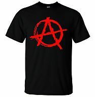 Anarchy Symbol T-Shirt - Punk Rock T Shirt Bedlam Evil Anarchist War Rocker
