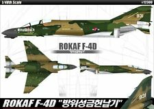 Academy 1/48 Plastic Model Kit ROKAF F-4D Heavy Tail for Defense Donation #12300