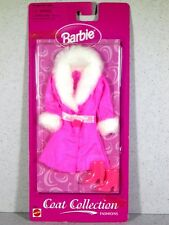 NIB BARBIE DOLL 1998 COAT COLLECTION FASHIONS BRIGHT PINK WINTER