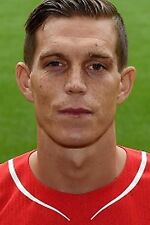 Football Photo DANIEL AGGER Liverpool 2014-15