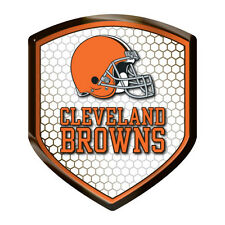 Cleveland Browns Reflector Auto Decal [NEW] NFL Car Emblem Shield Sticker CDG