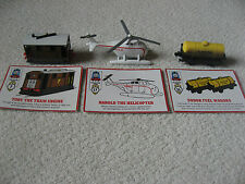 3 THOMAS VEHICLES HAROLD THE HELICOPTER, TOBY THE TRAM ENGINE, SODOR FUEL WAGON