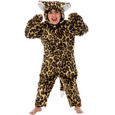 Childrens Leopard Fancy Dress Costume Big Jungle Cat Outfit 98Cm 2-3 Years