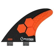 SHAPERS FINS FCS CARBON STEALTH AM2 ORANGE THRUSTER FINS (3-FIN SET)