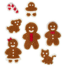 Gingerbread Family Christmas Icing Decorations from Wilton #9710 - NEW