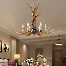 American Deer Horn Antler Resin Pendant Light Chandelier Hanging Lamp Fixture