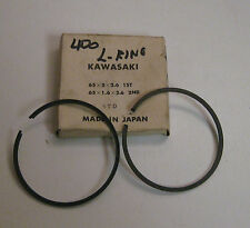 ARCTIC CAT KAWASAKI 400 65MM PISTON RINGS ONE SET NEW OLD STOCK WITH TO L - RING