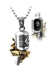 Let's Rock Microphone Pendant - Alchemy Gothic UL13 Tattoo Jewellery ULP28