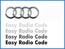 Audi Radio Security Code Unlock Retrieval Decode Service