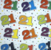 2 sheets 21st birthday wrapping paper gift wrap unisex