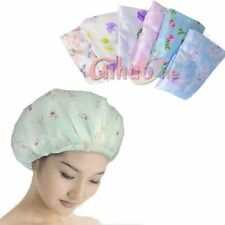 12PCS Waterproof Elastic Plastic PRINTED Shower CAP Bathing, SalonHair Cap
