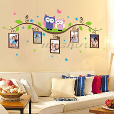 Owls Branch Family Wall Decal Sticker Removable Photo Frame Decor Room Vinyl Art