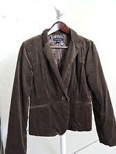 Calvin Klein Jeans Cotton Blend Corduroy Brown Lined 1 Button Vented Jacket-Sz-L