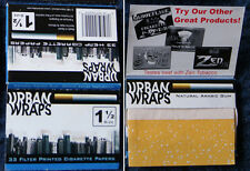 URBAN WRAPS 1 1/2 Size cigarette rolling papers TWO PACKS  - FREE SHIPPING!