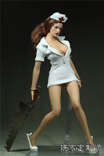 "Customer Customize 1/6 Scale Nurse Shows High Heel White For 12"" Phicen Body"