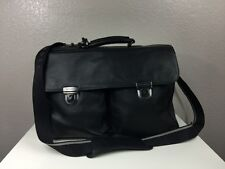 Authentic Hugo Boss 100% Calfskin Leather Men`s Black Messenger Bag - $845