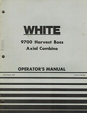 "WHITE 9700 HARVEST BOSS AXIAL COMBINE OPERATOR'S  MANUAL 446569  ""NEW"""