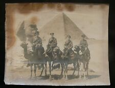 Imperial Camel Corps c.1916-17 Original Photograph Taken at Giza Egypt