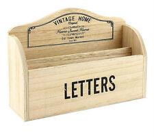 Vintage Home Wooden Letter Rack