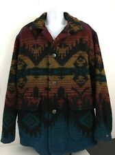 Vintage WOOLRICH Southwest Indian Blanket Jacket Mens XL Wool Coat USA Made