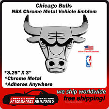Chicago Bulls NBA Chrome Metal Car Auto Emblem Team Decal Logo Ships Fast