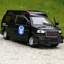 GMC Commercial Star 1:32 Alloy Diecast Car Model Matte Black Police Car RV Toys