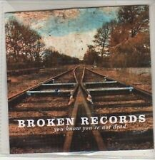 (CO88) Broken Records, You Know You're Not Dead - 2011 DJ CD