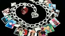 CUSTOM PHOTO Charm Bracelet YOUR PHOTOS Personalized With 12 Charms