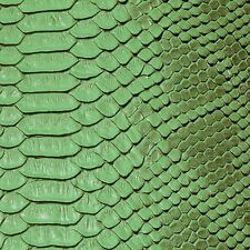 Green Faux Viper Sopythana Snake Skin Vinyl Fabric - Sold By The Yard - 52""